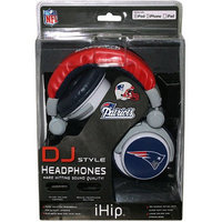 iHip NFL Officially Licensed DJ Style Headphones - New England Patriots