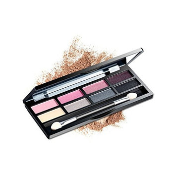 AMarkUp Pro 8 Colors Shimmer Eye Shadow Makeup Palette with Eyeshadow Cosmetic Brush Mirror