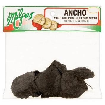 Milpas Foods Milpas Ancho Whole Chile Pods, 1 1/2 oz