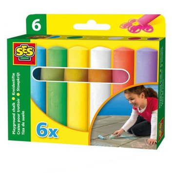 SES Creative 2206 Playground Chalk Assorted Color - 6 Per Pack Case of 12