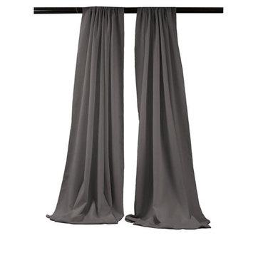 LA Linen BDpop96x58-Pk2-CharcoalP34 Polyester Poplin Backdrop Drape Charcoal - 96 x 58 in. - Pack of 2
