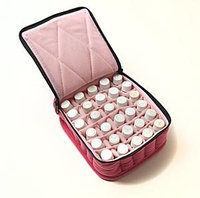 Therapure Health Essentials Essential Oil Carrying Case, 5 High, 30ml, 30-Bottle, Solid, Fuscia w/Pink