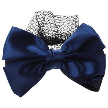 hair snood network - SODIAL(R) Bowknot French Hair Clip Hair Snood Network for Ladies Navy Blue