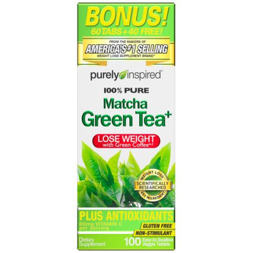 Purely Inspired 100% Pure Matcha Green Tea Weight Loss Capsules - 100 Count