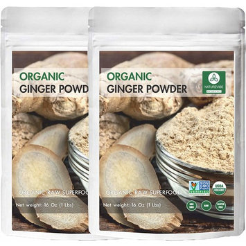 Naturevibe Botanicals Organic Ginger Powder-2 lbs (2 pack of 1lbs each)