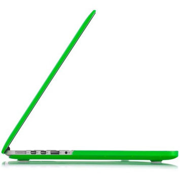 Kuzy GREEN Rubberized Hard Case Cover for MacBook Pro 15.4
