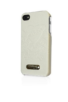 Executive Ed Hardy Faceplate for iPhone 4 - Love Kills Slowly - White