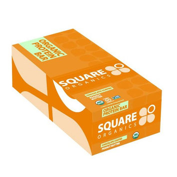 Square Organics, Organic Protein Bar, Chocolate Coated Peanut Butter, 12 Bars, 1.7 oz (48 g) Each [Flavor : Chocolate Coated Peanut Butter]
