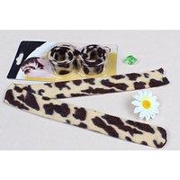 1 pcs Brown Leopard French Hairagami Hair Braider Twist Bun Poly Tail Holder styling Snap AOSTEK(TM) by Aostek