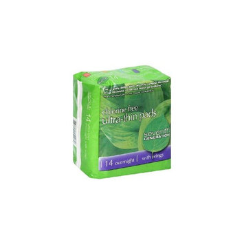 Seventh Generation Ultra Thin Maxi Pads with Wings - Overnight - 14 Pads