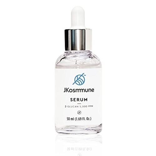 JKosmmune Serum Enriched with Pure Beta Glucan (5,000 PPM) - Nourishing, Brightening, Lifting and Moisturizing Multi-functional Serum for Rejuvenating Skin (1.69 Fl. Oz)