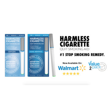 Harmless Products Co. 4 Week Quit Kit Harmless Cigarette / Stop Smoking Aid / Includes FREE Quit Smoking Support Guide.(2 Pack)
