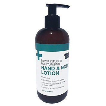 Silver Infused Moisturizing Hand & Body Lotion 12oz Lotion Pump