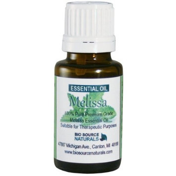 Melissa Pure Essential Oil 15 ml Lemon Balm - Helpful for Anxiety & Depression Aromatherapy Support
