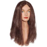 Star Power Brown Straight Flower Child Mid-Length Wig, Brown, One Size
