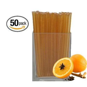 Natural Orange Honeystix - Naturally Flavored Honey - Pack of 50 Stix - 250g [Natural Orange]