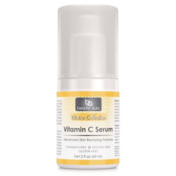 Beauty Aura Divine Collection Vitamin C Serum 2 Fl Oz (60 ml)