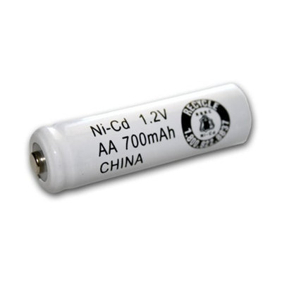 AA Size Rechargeable Battery 700mAh NiCd 1.2V Button Top Cell