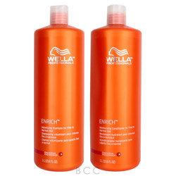 Wella Enrich Shampoo & Conditioner for Fine Hair Liter Duo