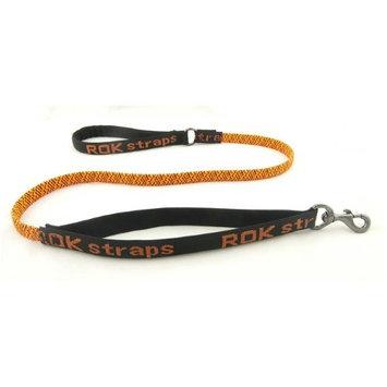 3 in 1 ROK Straps Stretch Dog Leash Color: Orange and Black