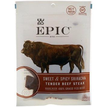 Epic Bar, Bites, Tender Beef Steak, Sweet & Spicy Sriracha, 2.5 oz (71 g) [Flavor : Tender Beef Steak, Sweet & Spicy Sriracha]