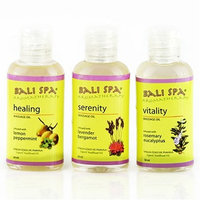 Organic Virgin Coconut Oil Bali Spa Aromatherapy Massage Oils Collection (set of 3 blends x 1.7 oz [50 ml] each, total of 5.1 oz): Vitality (Rosemary Eucalyptus) + Sensual (Ylang-Ylang Sandalwood) + Serenity (Lavender Bergamot). Direct from Maker - Manila Coco