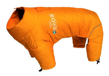 Helios Thunder-crackle Full-Body Waded-Plush Adjustable and 3M Reflective Dog Jacket, Sporty Orange, X-Large