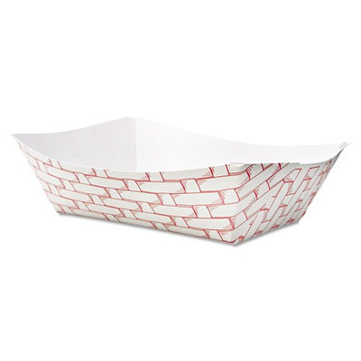 Boardwalk Paper Food Trays Red Weave Food Trays, 3