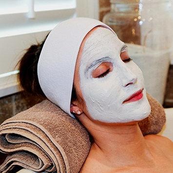 S&T Facial & Makeup Cotton Headbands w/velcro, White, 3 Pack