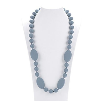Consider It Maid Silicone Teething Necklace for Mom to Wear - FREE E-BOOK - BPA FREE and FDA Approved - Peas in a Pod (38 Inch Grey)