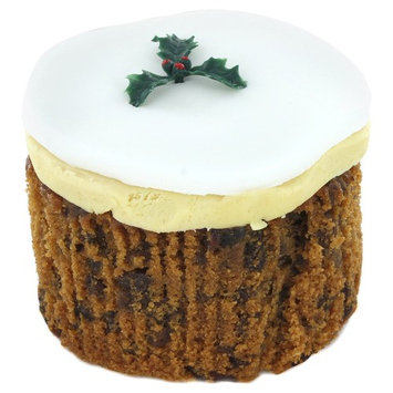 Gold Crown Round Iced Christmas Cake
