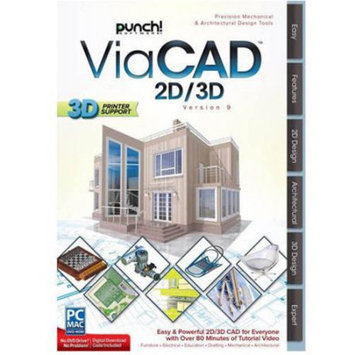 WD Encore 8133210 Punch ViaCAD 2D/3D V9 for Mac (Email Delivery)