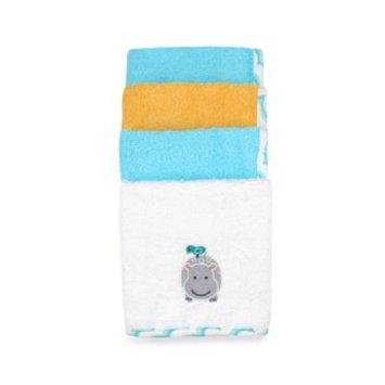 Just Bath 4pk Woven Washcloth Set - Love to Bathe-Hippo