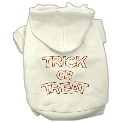 Mirage Pet Products 541304 XXXLCR Trick or Treat Rhinestone Hoodies Cream XXXL 20