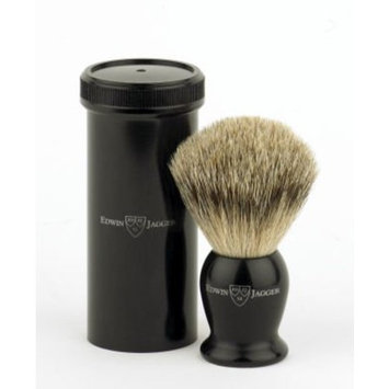 Edwin Jagger Best Badger Hair Travel Shaving Brush with Tube - Imitation Ebony