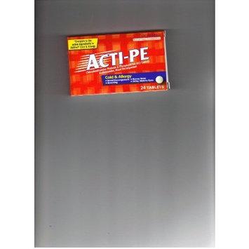 ACTI-PE Antihistamine, Nasal Decongestant, 24 tablets