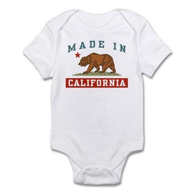 CafePress - Made In California Infant Bodysuit - Baby Light Bodysuit
