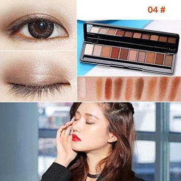 Creazy GECOMO 10 Colors Eyeshadow Palette Luxury Golden Pearl Matte Nude Eye Shadow