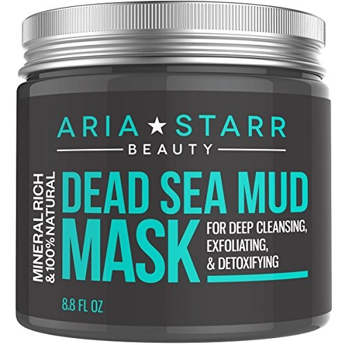 AriaStarrBeauty Dead Sea Mud Mask For Face, Acne, Oily Skin & Blackheads