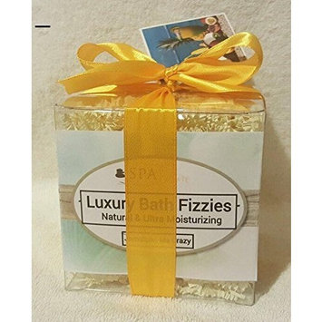 JAMAICA ME CRAZY GIFT SET with 6 Bath Bomb Fizzies with Shea, Mango & Cocoa Butter, Ultra Moisturizing (14 Oz) Great for Dry Skin, All Skin Types (Jamaica Me Crazy)
