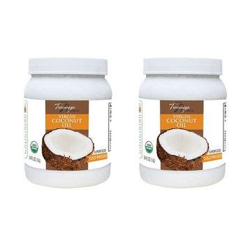 Tresomega Nutrition Organic Virgin Coconut Oil (54 oz) - 2 Packs