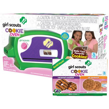 Wicked Cool Toys Girl Scouts Deluxe Cookie Oven with Caramel Coconut and Peanut Butter Sandwich Deluxe Refill Kit