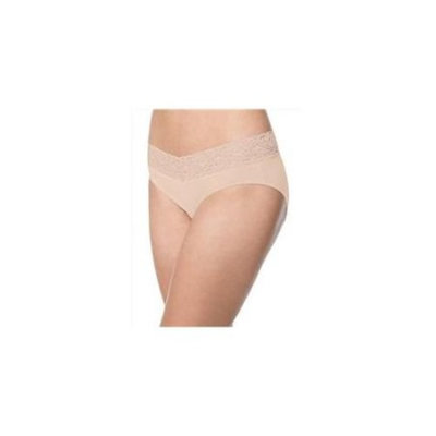 Barely There Invisible Look Women`s Lace Waist Hipster, 2497, 8, Soft Taupe
