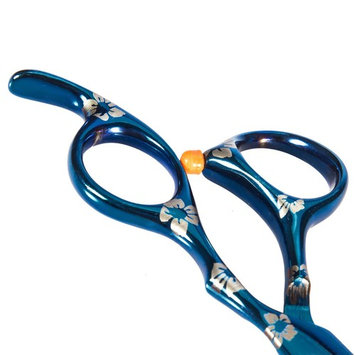 SHACOS 304 Stainless Steel Flat Blade Scissors Teeth Thinning Scissors Set Professional Barber Hair Cutting Shears for Salon Styling (Teeth Thinning Scissor, Blue Cherry)