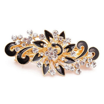 Fashion Girls Women Vintage Jewelry Crystal Peacock Hair Clips Hairpins