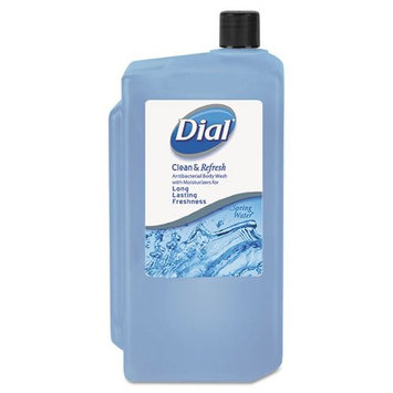 Dial Body Wash, Spring Water, 1 L Refill Cartridge - Includes eight 1L bottles.