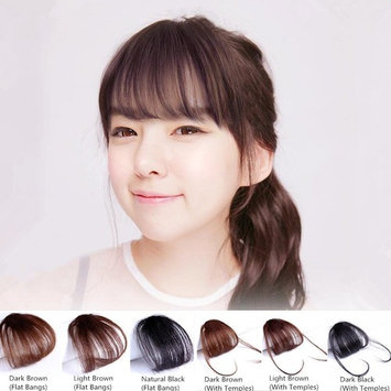 HAIQUAN Natural Real Human Hair Flat Bangs/Fringe Hand Tied Bangs Fashion Clip-in Hair Extension