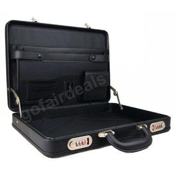 Unisex Slimline Deluxe PVC Executive Bag Work Business Carry Case (Black)