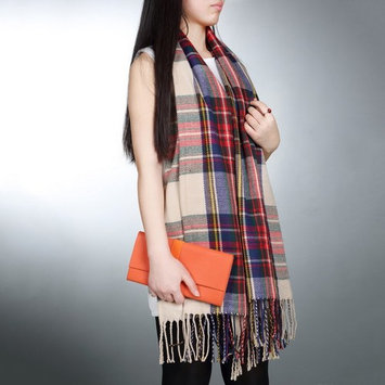 Elegant Women Lady Tassels Blanket Oversized Tartan Scarf Plaid Checked Wrap Shawl Bloggers Favourite Best Gifts