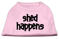 Mirage Pet Products 5149 XXXLLPK Shed Happens Screen Print Shirt Light Pink XXXL 20